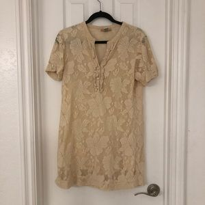 Billabong Cream Lace Dress- Size Large
